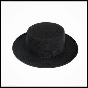 NE Norbo Accessories - 🆕️ Women's Solid Black Pork pie Hat, NIB